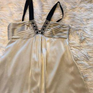 BCBG short gown with rhinestone embellishment
